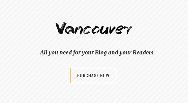Vancouver - A Responsive WordPress Blog Theme